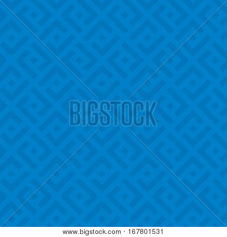 Blue Checked Neutral Seamless Pattern for Modern Design in Flat Style. Tileable Geometric Vector Background.