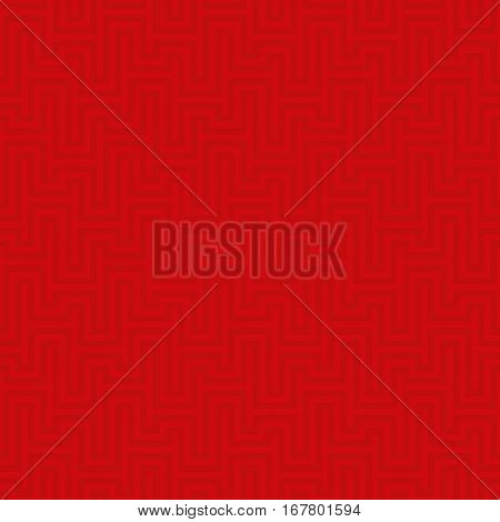 Red Waveform seamless pattern. Neutral tileable linear vector background.