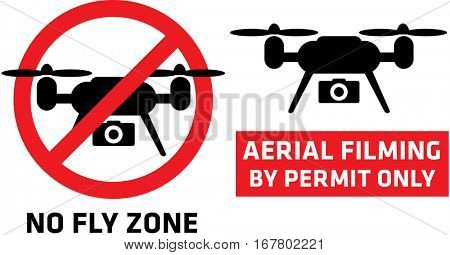Aerial Drone Quadcopter Filming Not Allowed