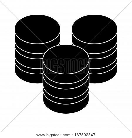 black database hosting icon image design, vector illustration
