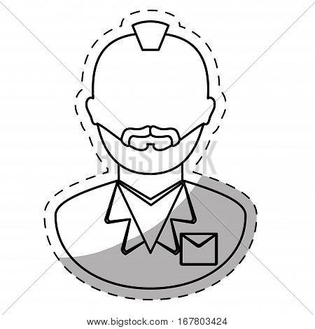 figure arrested man icon image, vector illustration