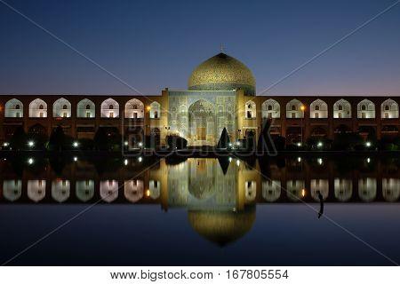 Sunrise at Naqsh-e Jahan Square (Imam Square) .Esfahan Iran