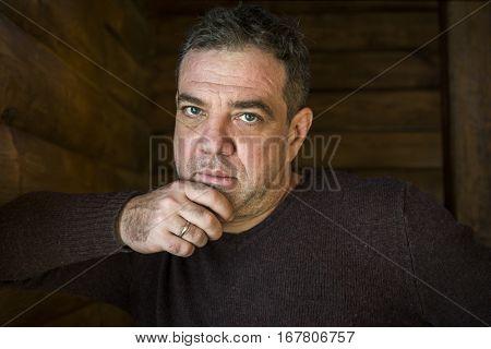 Sad man portrait.