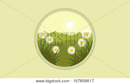 Illustration vector of flower at spring collection stock