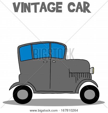 Vintage car vector art illustration collection stock
