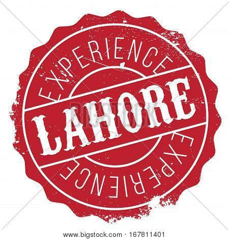 Lahore stamp. Grunge design with dust scratches. Effects can be easily removed for a clean, crisp look. Color is easily changed.
