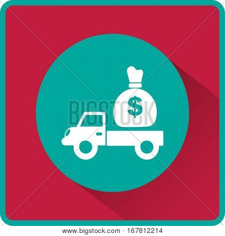 Flat icon. Finance Delivery.