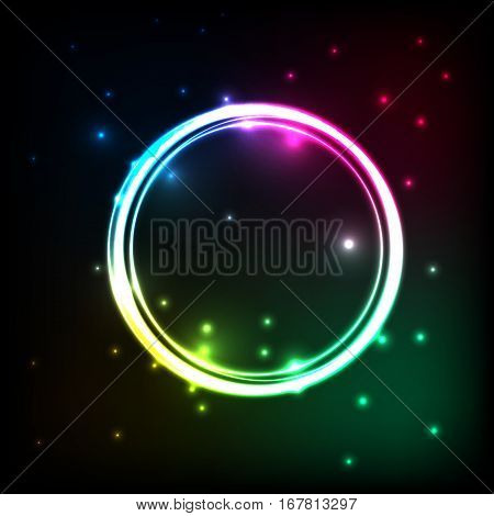 Abstract background with colorful circles plasma, stock vector