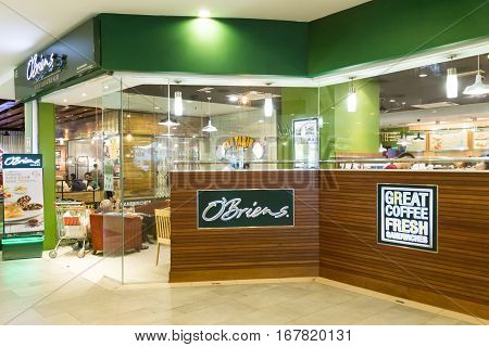KUALA LUMPUR MALAYSIA - January 29 2017: O'Briens originate from Ireland operates sandwiches bar with outlet in Malaysia