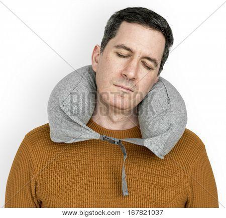 Man Neck Pillow Comfortable Sleeping Relaxation