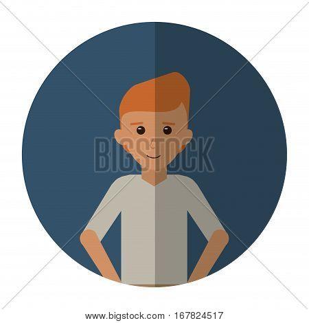 man young tshirt stylish cutting line shadow vector illustraton eps 10