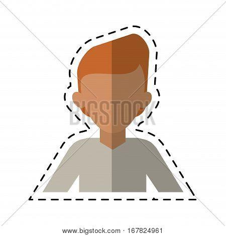 man young tshirt stylish cutting line vector illustraton eps 10