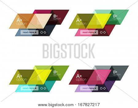 Set of vector triangle geometric infographic for workflow layout, diagram, number options or web design