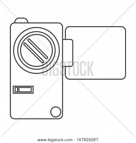 camcorder film video travel device thin line vector illustration eps 10