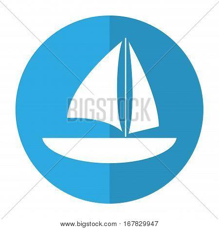 sailboat navigation water recreation shadow vector illustration eps 10