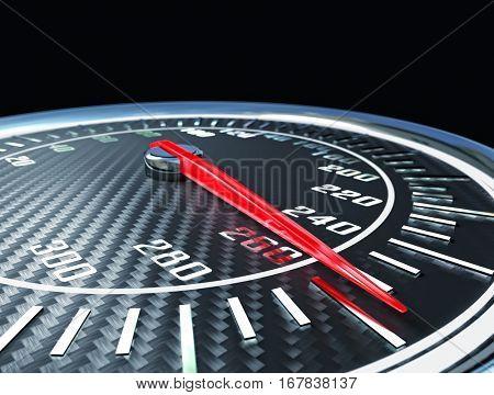 carbon fiber speedometer rendering image