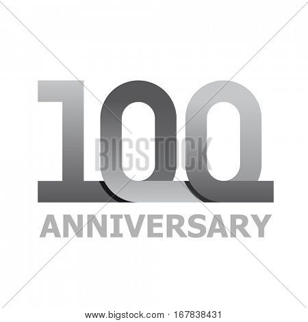 100 years anniversary number vector