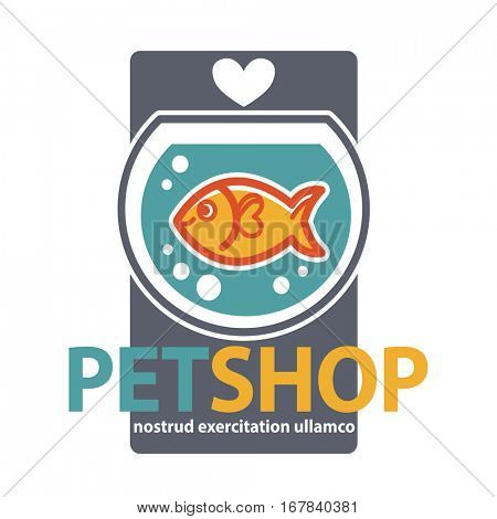 Pet shop with fish. Vector Illustration
