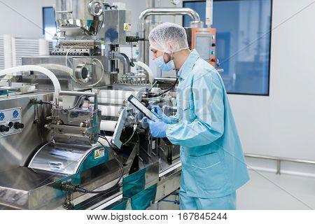 Scientist Configure Machine With Shafts