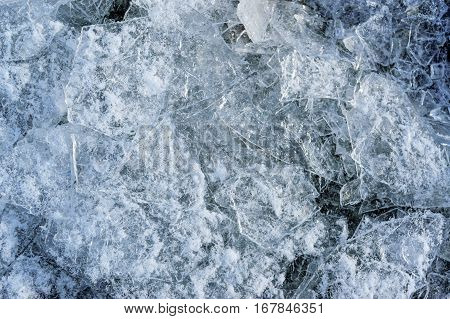 Chunks of ice close up. Background texture.
