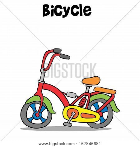 Bicycle cartoon vector art illustration collection stock