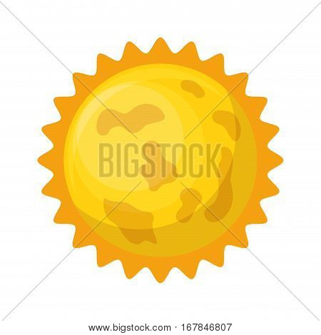 astronomical sun isolated icon vector illustration design