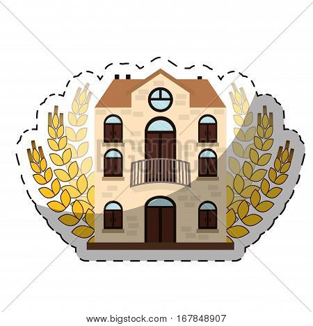 beer canteen with wheat image design, vector illustration