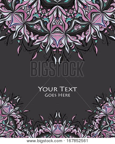 Vector floral background. Pattern for design. Eps10