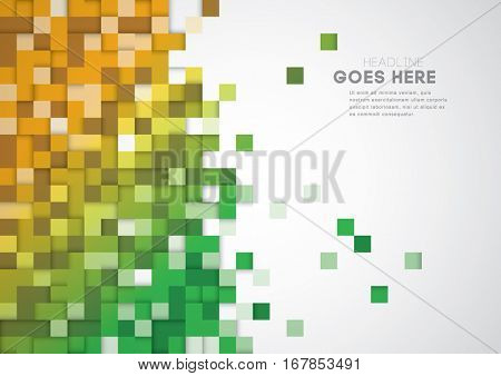 Vector of stylized geometric pattern and background