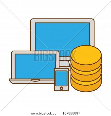 hosting technology base center icon, vector illustration design