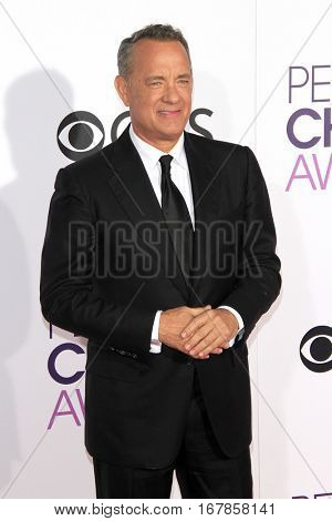 LOS ANGELES - JAN 18:  Tom Hanks at the People's Choice Awards 2017 at Microsoft Theater on January 18, 2017 in Los Angeles, CA