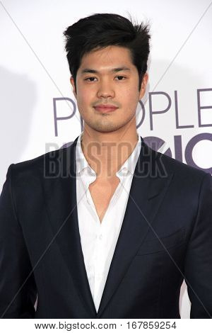 LOS ANGELES - JAN 18:  Ross Butler at the People's Choice Awards 2017 at Microsoft Theater on January 18, 2017 in Los Angeles, CA
