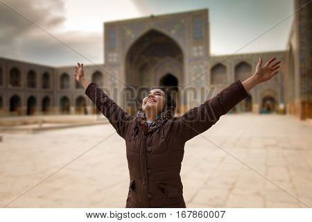 That's a great feeling going back to your home country after living in overseas for many years. Iranian teenager Isfahan Iran - January 2017
