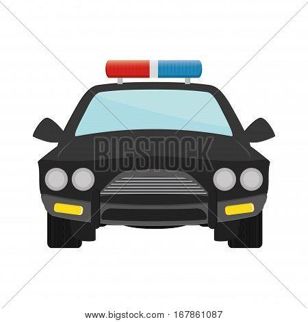 police car patrol icon image vector illustration design