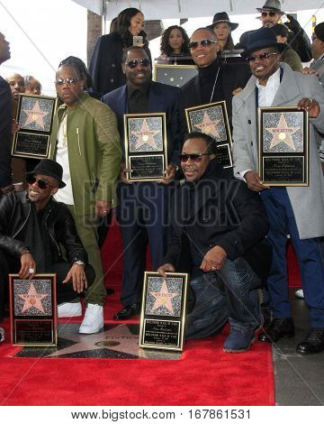 LOS ANGELES - JAN 23:  New Edition at the New Edition Walk of Fame Star Ceremony at Hollywood Walk of Fame on January 23, 2017 in Los Angeles, CA