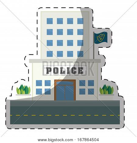 police station  icon image vector illustration design