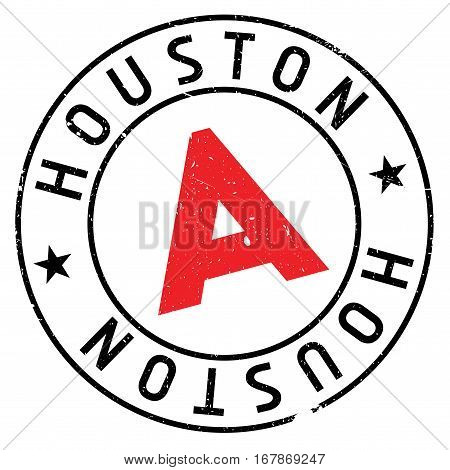 Houston stamp. Grunge design with dust scratches. Effects can be easily removed for a clean, crisp look. Color is easily changed.