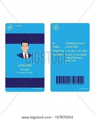 id card business blue, This design is suitable for business cards