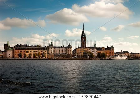 Amazing views of the old town (Gamla Stan) of Stockholm Sweden