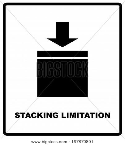 Stacking Limitation by Mass vector packaging symbol on vector cardboard background. Handling mark on craft paper background. Can be used on a box or packaging.