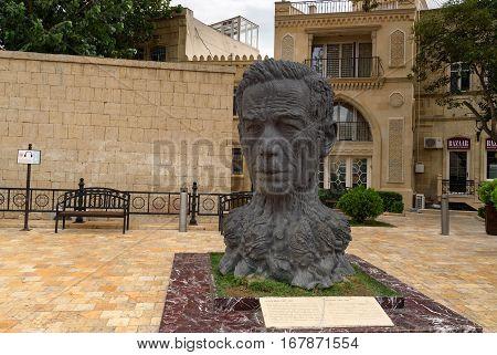 Monument To Azerbaijani Poet Aliaga Vakhid. Baku