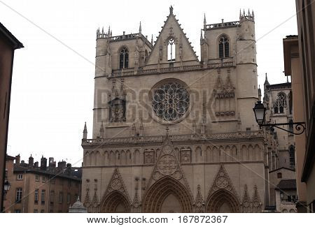 Lyon Cathedral is a Roman Catholic cathedral dedicated to Saint John the Baptist, in Lyon, France