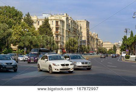 City Traffic In Baku