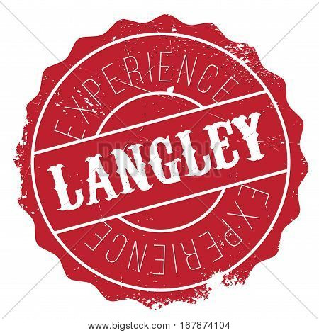 Langley stamp. Grunge design with dust scratches. Effects can be easily removed for a clean, crisp look. Color is easily changed.