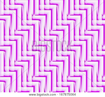 Abstract seamless strips and corners white and pink colors lined in rows to form a continuous pattern