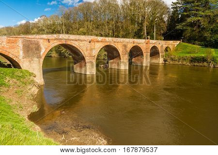 Bredwardine Bridge, Red Brick Crossing River Wye