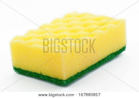 Sponges for washing dishes on a white background