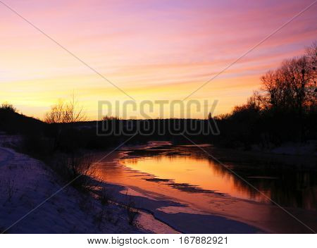 clouds on a yellowish scarlet sunset photos micro-stock