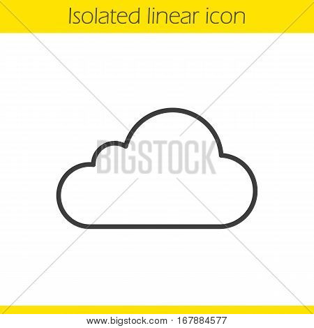 Cloud hosting linear icon. Thin line illustration. Cloud computing contour symbol. Vector isolated outline drawing