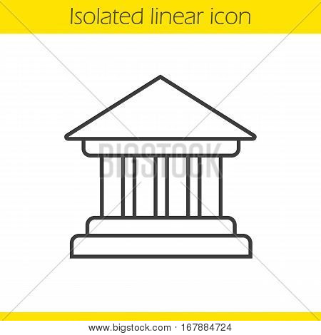 Bank Building Linear Icon Thin Line Illustration Courthouse Contour Symbol Vector Isolated Outline
